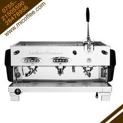 La San Marco Duale圣马可三头拉杆半自动电控商用咖啡机