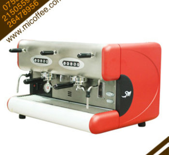La San Marco 85E圣马可标版双头半自动电控商用咖啡机