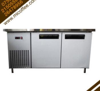 定制高档不锈钢冷藏柜 奶茶店吧台冰柜