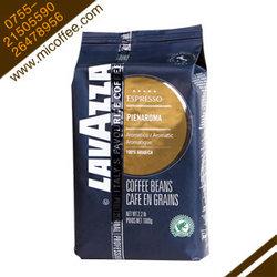 意大利进口lavazza拉瓦萨PIENAROMA100%阿拉比卡浓香蓝标咖啡豆