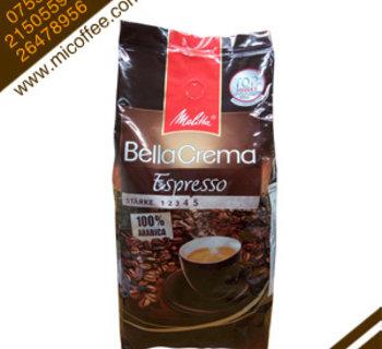 原装进口德国Melitta/美乐家意式特浓咖啡豆 精品咖啡可磨粉 1kg