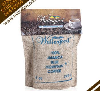 原装进口wallenford 100%牙买加蓝山咖啡豆227g麻袋装正品