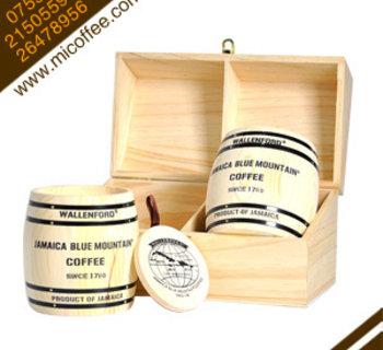 正品原装进口Wallenford㊣100%牙买加蓝山咖啡豆 2*4oz 木礼盒装