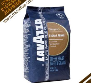 意大利原装进口lavazza拉瓦萨咖啡豆 CREMA E AROMA黄标意式香浓