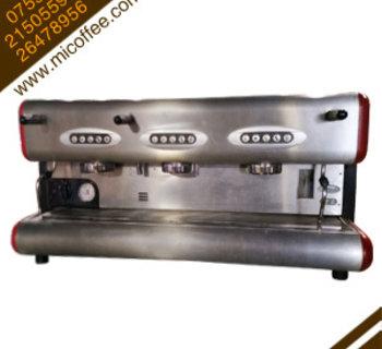 La San Marco圣马可三头半自动电控商用二手咖啡机